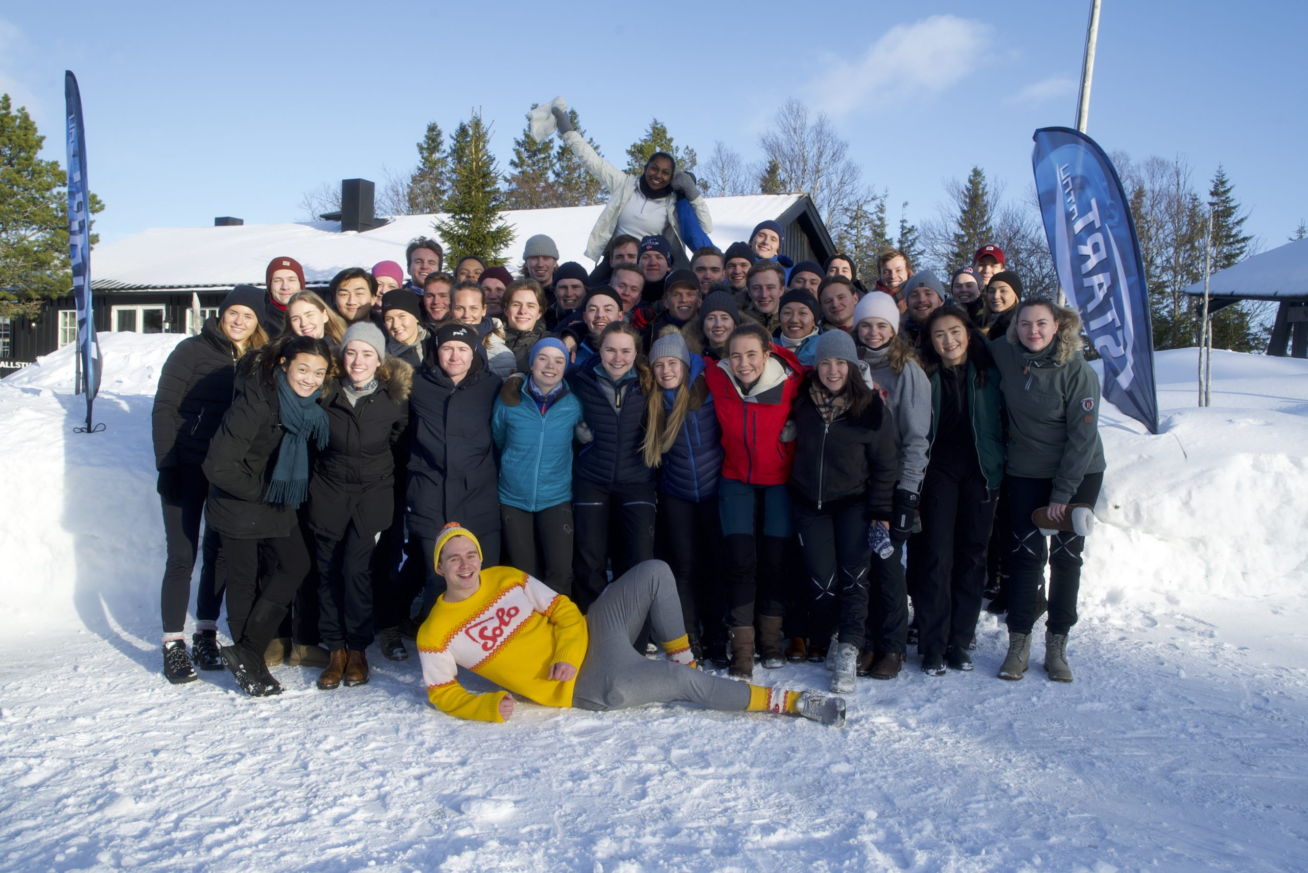 Group photo of the members at Start NTNU